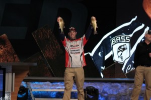 Carter Shows his CLass by Thanking the B.A.S.S. Nation Alliance by Wearing Their Jersy on Day Two