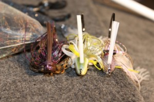Swim Jig Primer Lined Up Tight