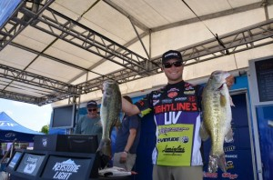 FLW Tour Lake Eufala Day One Leader Justin Lucas