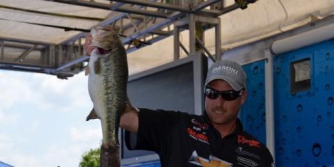 FLW Tour Lake Eufala Day Two Leader Bryan Thrift