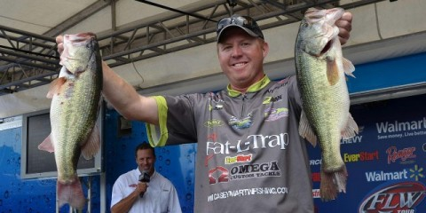 FLW Chickamauga Day Two Leader Casey Martin