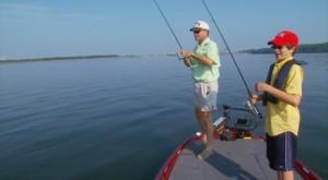 Allan and Alex Ranson Fishing
