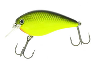 Strike King KVD 1-5 Square Bill - Chartreuse Black Back