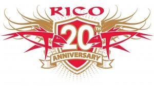 rico 20 anniversary logo