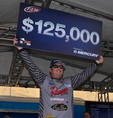 Brett hite wins flw tour okeechobee wire to wire for Fish wire walmart