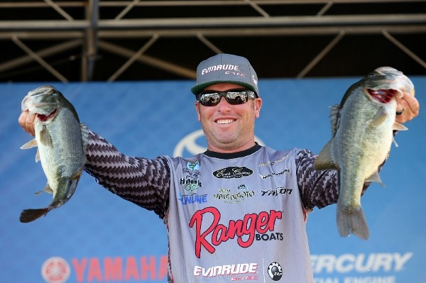 Bassmaster Elite Series Seminole Day Two Leader Brett Hite - photo by Gary Tramontina - Bassmaster