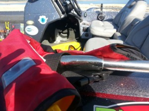 Protect Valuable Gear by Buckling it to the Boat while Towing