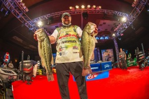 FLW Beaver Lake Day Three Leader Matt Arey - photo courtesy FLW
