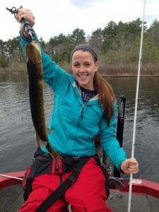 Laura Cowie-Haskell with her First Pickerel