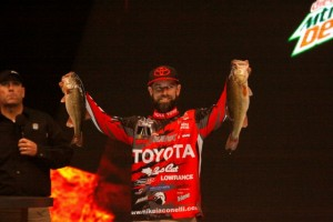 Mike Iaconelli On Stage at the 2014 Bassmaster Classic - photo by Dan O'Sullivan