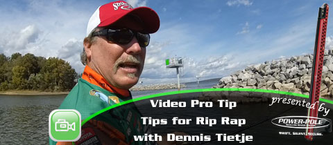 Video Pro Tip – Fishing Rip Rap with Dennis Tietje