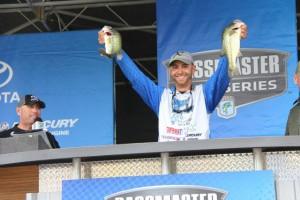 Brandon Lester on Stage - photo courtesy Pro Fishing Management