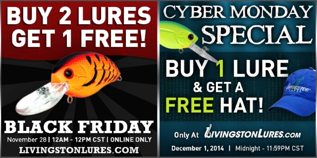 Livingston lures black friday and cyber monday deals for Black friday fishing deals