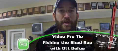 Video Pro Tip – Throwing the Rapala Shad Rap with Ott DeFoe