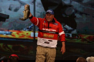 Matt Herren on the 2015 Bassmaster Classic Stage - photo by Dan O'Sullivan