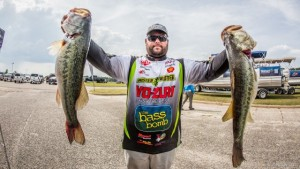 FLW Lake Eufaula Alabama Day One Leader Clent Davis - photo courtesy FLW
