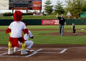 Officer Aaron Pearson First Pitch