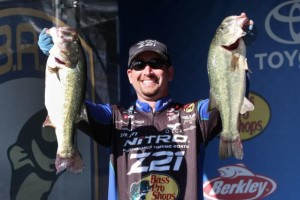 Elite Series Kentucky Lake BASSfest Day One Leader Ott DeFoe - photo by Gary Tramontina - Bassmaster