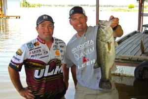 Guck with College Bass Champion Brett Preuett