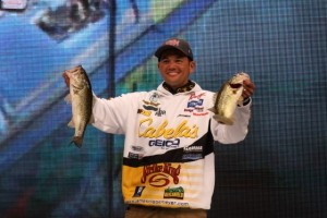 James Niggemeyer on the Bassmaster Classic Stage - photo by Dan O'Sullivan