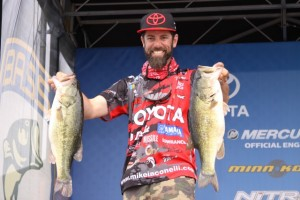 Mike Iaconelli on the Elite Series Stage - photo by Dan O'Sullivan