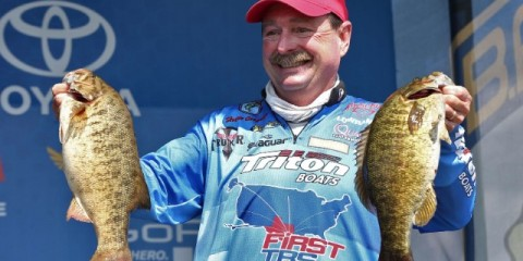 Bassmaster Elite Series St. Lawrence River Day One Leader Shaw Grigsby - photo by Gary Tramontina