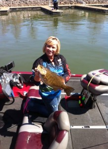 Kay Donaldson with a nice Tennessee River Smallmouth