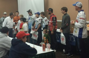 Bill, Adrian Avena, & Mike Iaconelli take extra time to recognize and speak with their young students directly during classes at the Bass University