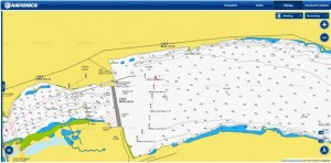 Columbia River McNary Area on Navionics App