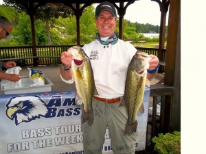 Two Lunkers Bill Caught at an American Bass Anglers Tournament