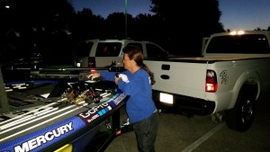 Cheryl Spencer Performing Her Tasks at a Major League Fishing Event