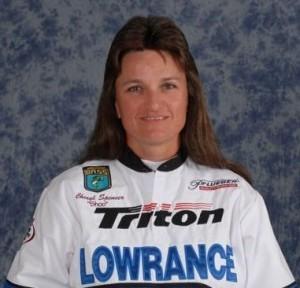 Cheryl Spencer in her Women's Bassmaster Tour Program Photo