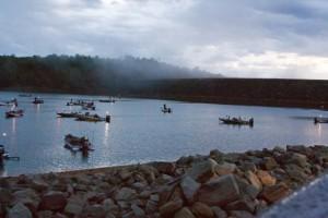 Alabama Bass Trail Anglers Awaiting Launch at Smith Lake - photo by Dan O'Sullivan