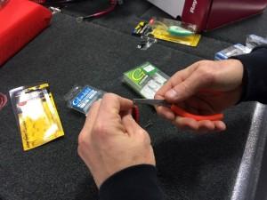 Crews Replacing Worn Hooks - photo courtesy of John Crews