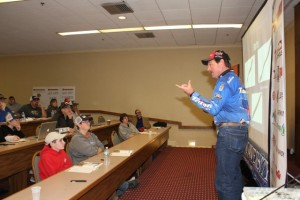 Shaw Grigsby Teaches the Students about Dropshotting - photo by Dan O'Sullivan (Custom)