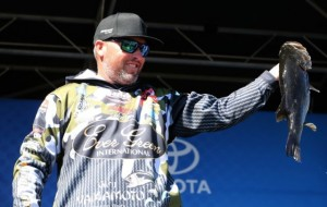 2016 Bassmaster Elite Series Winyah Bay Day Three Leader Brett Hite - photo by Gary Tramontina