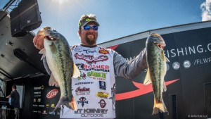 2016 FLW Tour Beaver Lake Day One Leader JT Kenney - photo courtesy FLW - Jody White