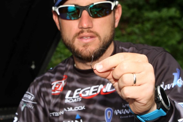 18 Seaguar Hookpoints Stetson Blaylock Wacky Rigged Stickbait - See the Finished Knot