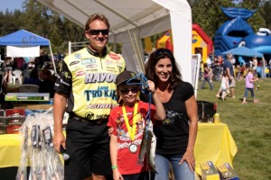Skeet and Kim Reese with a Kids Fishing Day Participant