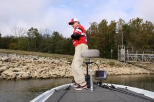 Mark Menendez Battles a Marina Bass - photo by Dan O'Sullivan
