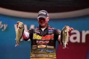 2013 FLW Cup Day Two Leader Randall Tharp - photo by Dan O'Sullivan