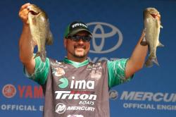 Fred Roumbanis of Oklahoma is the most recent Bassmaster Elite Series pro to be added to the list of 2014 Bassmaster Classic contenders. The competition will be held Feb. 21-23 on Lake Guntersville. Photo by Bassmaster