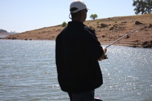 An Angler Fishing a Mudline off of a Point