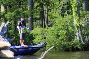 Justin Lucas Fishing in the Trees - photo by True Image Promotions