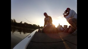Mark Menendez Catches a Nice Fall Bass While Filming