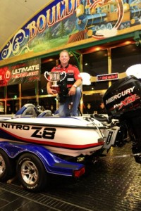Rusty Brown and his Prizes - photo courtesy WON Bass - Brad Schweit