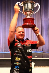Rusty Brown with his U.S. Open Trophy - photo courtesy WON Bass - Brad Schweit