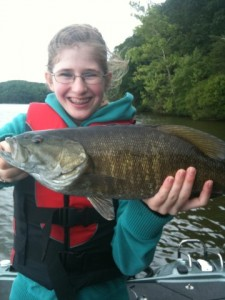 Ivy and a Shaky Head Smallmouth