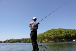 John Crews Casting a Shallow Crankbait - photo by Dan O'Sullivan