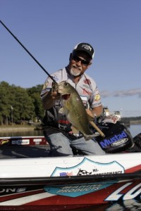 Bill McDonald with a Slither Rig Bass - photo by Dan O'Sullivan
